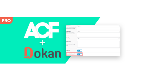 ACF For Dokan PRO